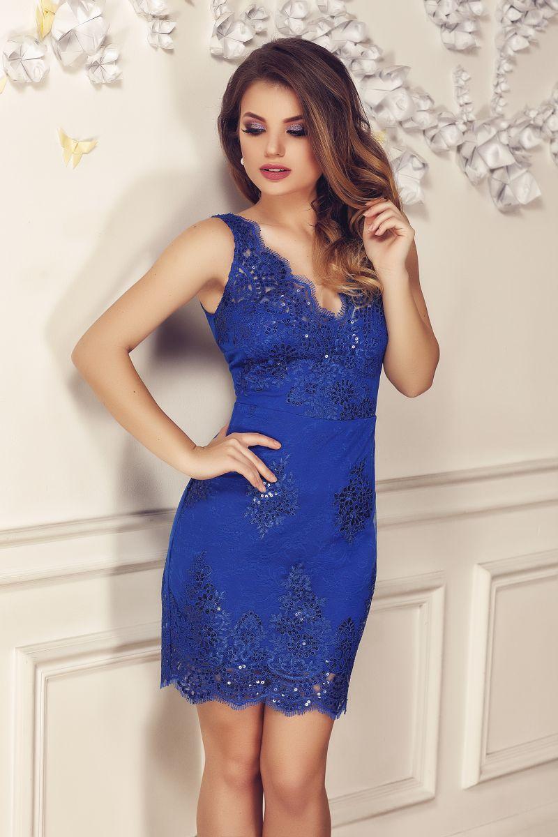 rochie-dantela-fina-albastra-scurta
