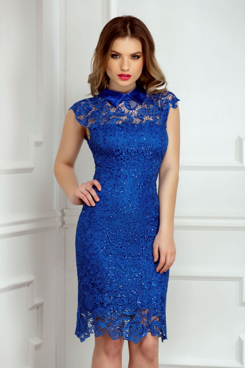 rochie-de-seara-albastra-scurta-dantela