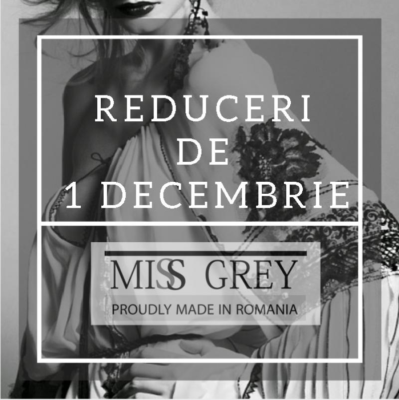 Proudly Made In Romania: reduceri de 1 Decembrie la cele mai populare produse Miss Grey