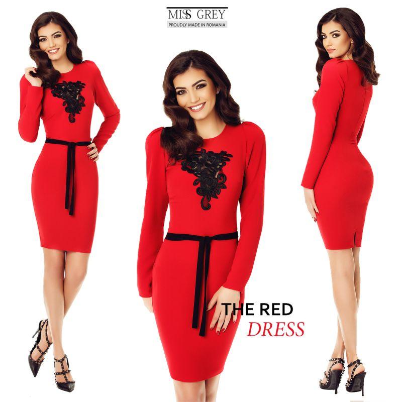 Idei de purtat rochiile rosii de zi