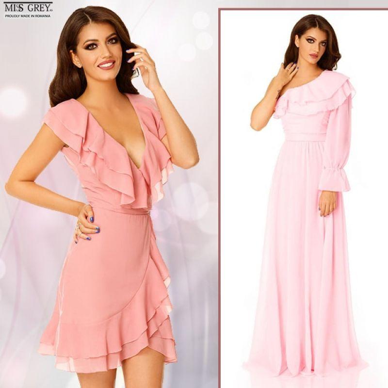 Rochii roz elegante lungi sau scurte, pentru ocaziile speciale