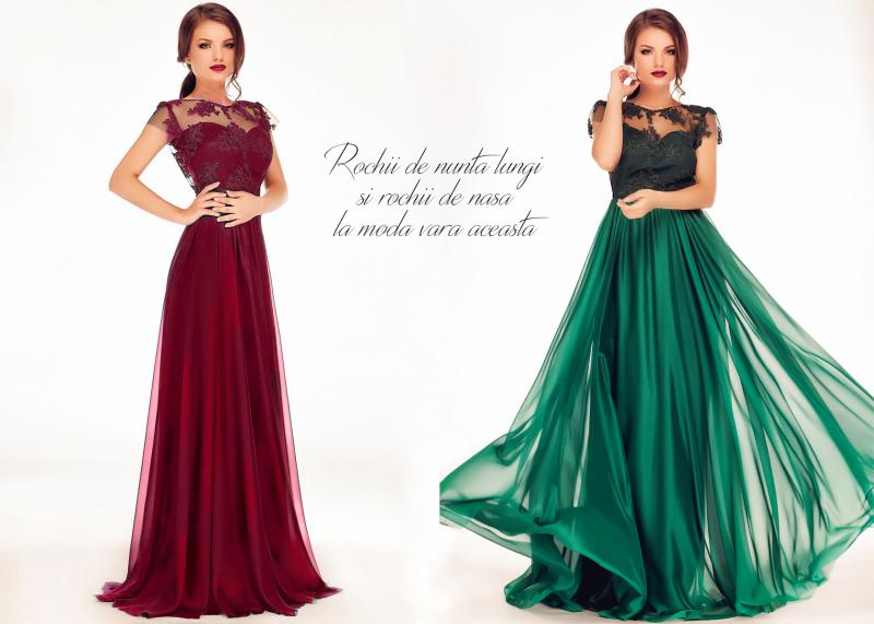Rochii de nunta lungi si rochii de nasa la moda in aceasta vara