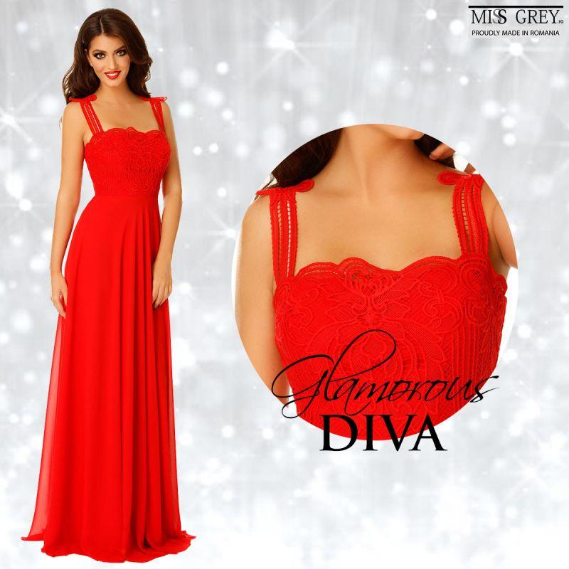 Fa pe plac divei din tine si poarta o rochie rosie lunga