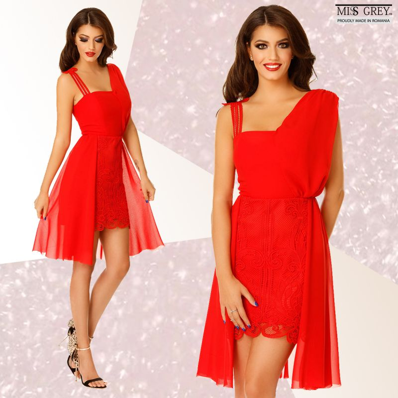 Modelele de rochii rosii scurte au puteri speciale