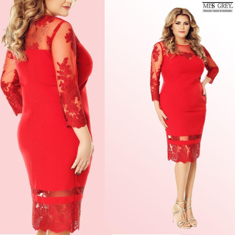 Cum porti o rochie rosie eleganta pentru plinute?
