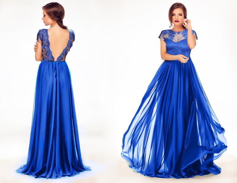 Cum accesorizezi o rochie albastra lunga?