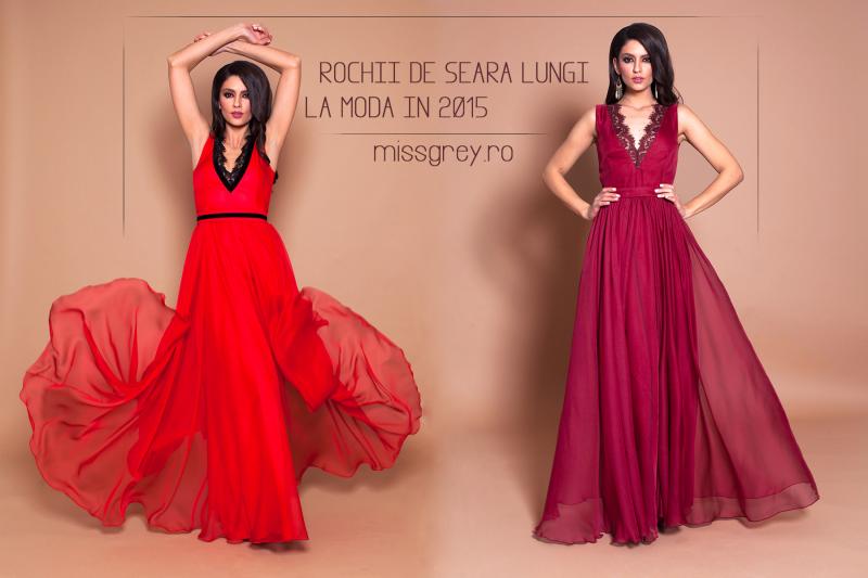 Rochii de seara lungi, la moda in 2015