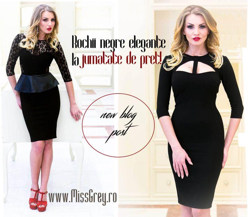 Rochii negre elegante, la 50% reducere!