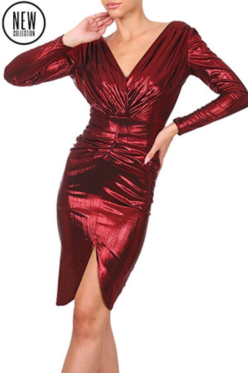 Fii seducatoare de Valentine's Day intr-o rochie rosie Miss Grey