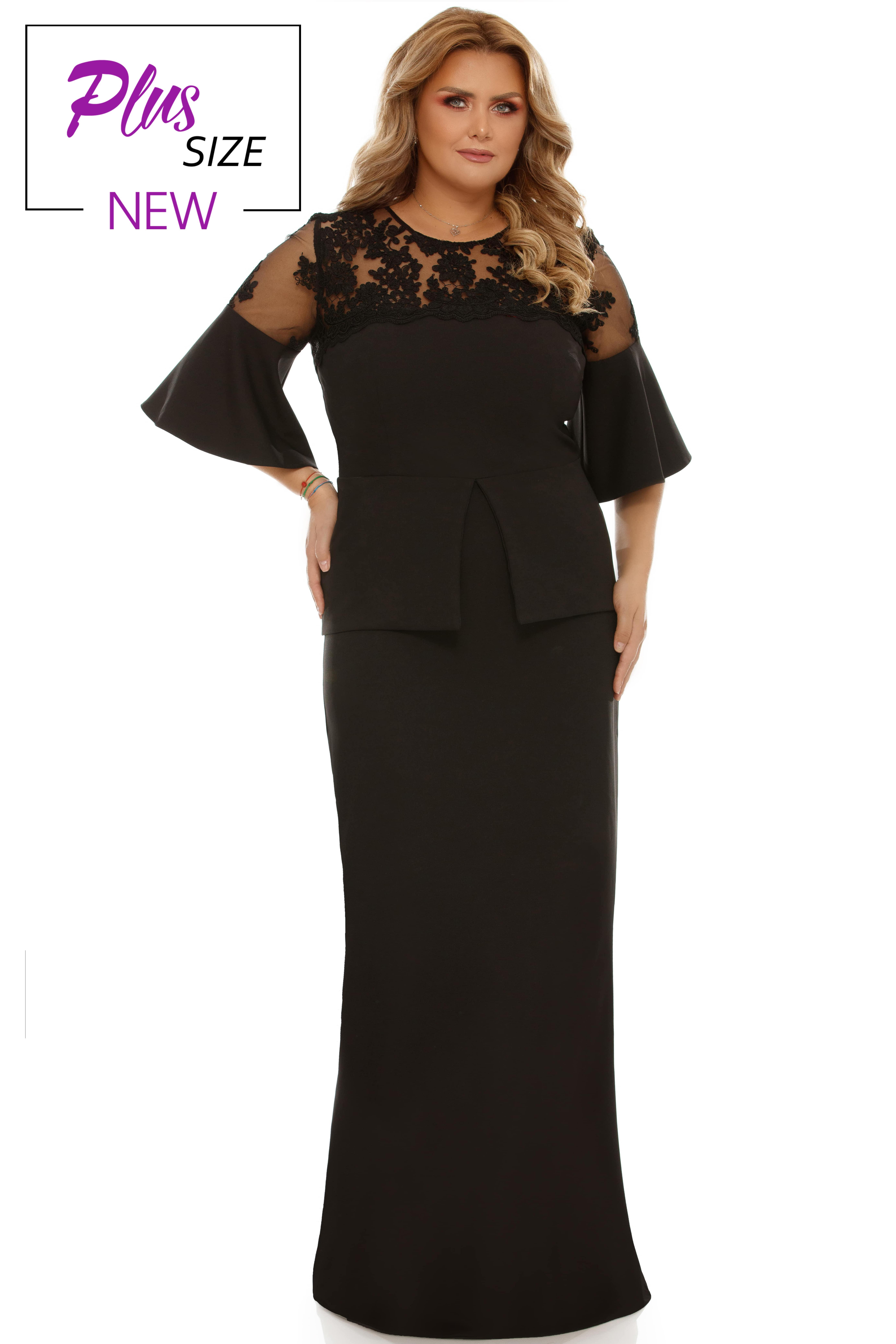 Rochie Plus Size Ivona neagra