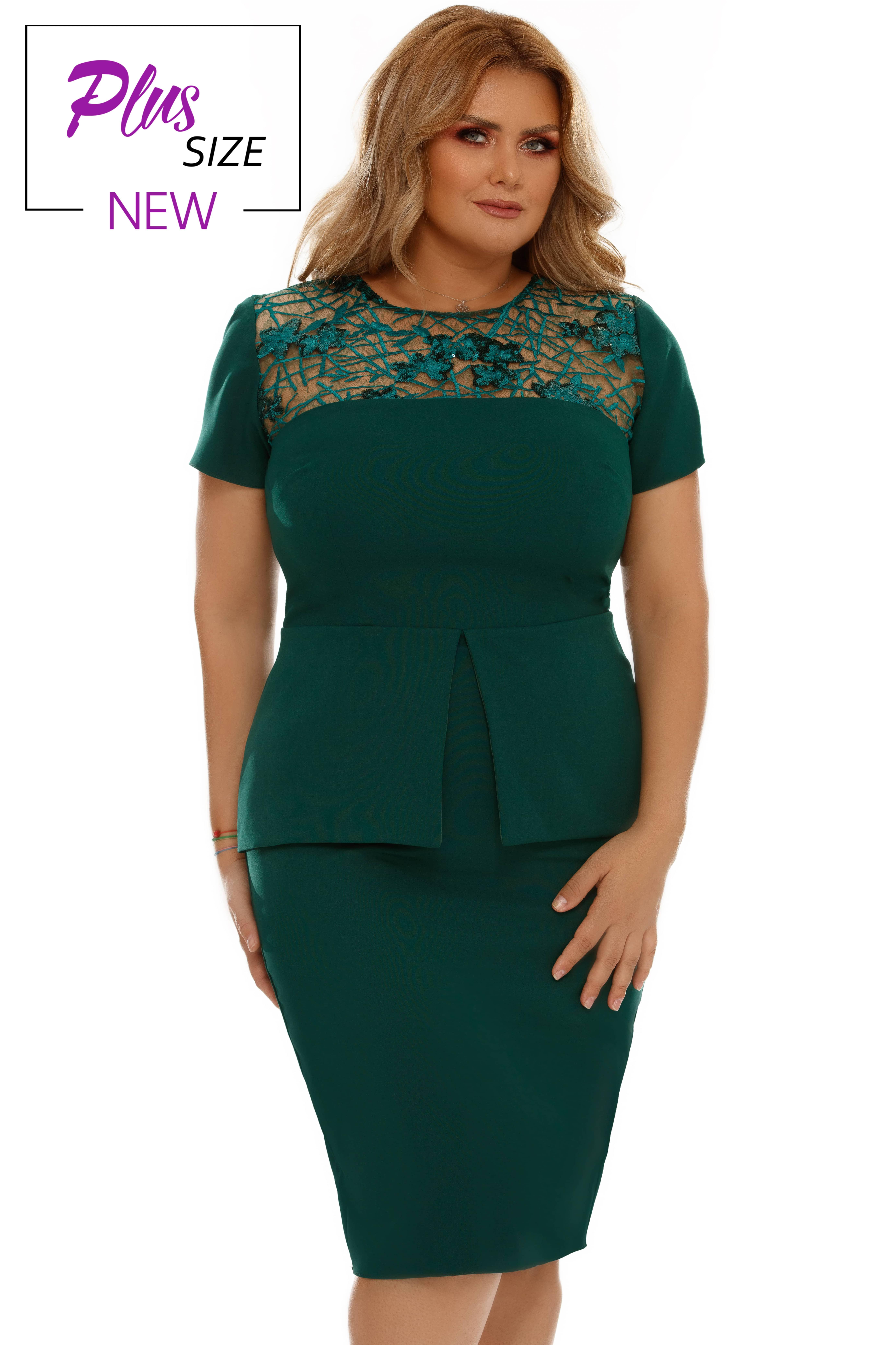 Rochie Plus Size Perla Verde
