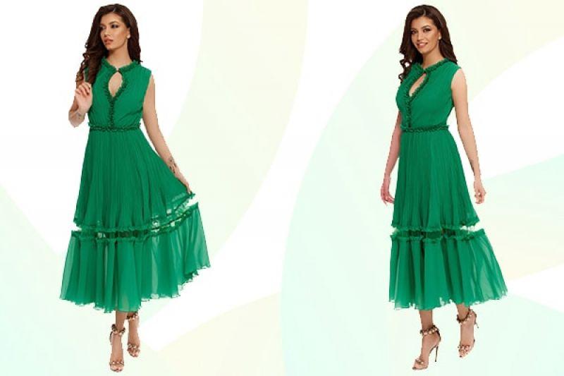 Rochie verde Megan